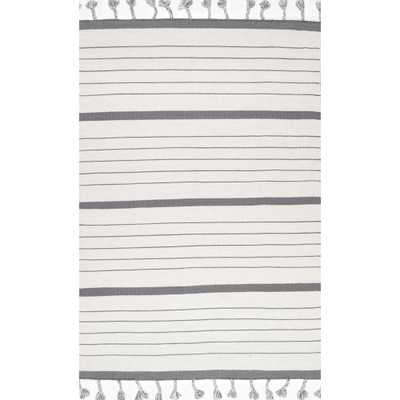nuLOOM Striped Alea Gray 5 ft. x 8 ft. Area Rug - Home Depot