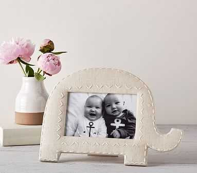 Elephant Shaped Linen Frames, Large - Pottery Barn Kids