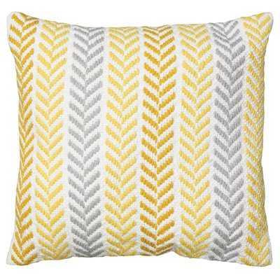 Galilea Cotton Chevron Throw Pillow - Birch Lane