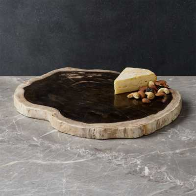 Petrified Wood Serving Board - Crate and Barrel
