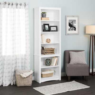 Prepac White Tall Bookcase - Home Depot