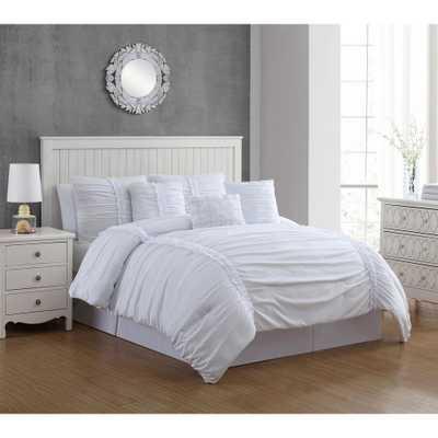 Corina 6-Piece White Twin Comforter Set - Home Depot