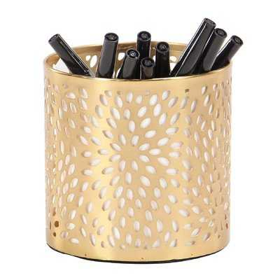 Renshaw Modern Perforated Design Round Pencil Cup - Wayfair