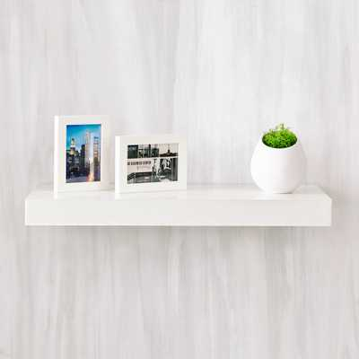 Ravello 24 in. x 2 in. zBoard Paperboard Wall Shelf Decorative Floating Shelf in Natural White - Home Depot