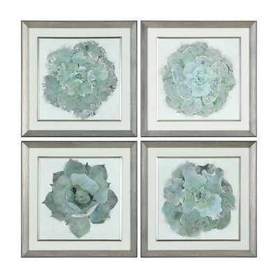 'Natural Beauties Botanical' 4 Piece Framed Print Set - Wayfair