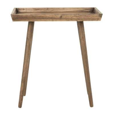 Nonie Desert Brown Side Table - Home Depot