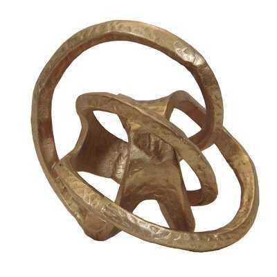 Gold Decorative Iron Knot - Wayfair