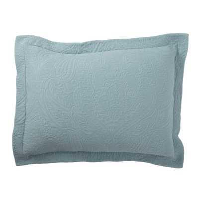 Hillcrest Matelasse Smoke Blue Cotton Standard Sham - Home Depot