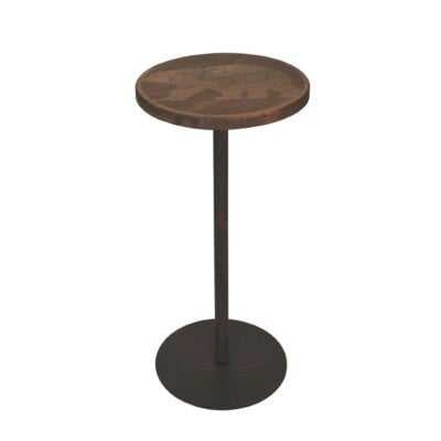 Colleton Round Wood Top Drink Table W/Walking Bear Accent - Wayfair