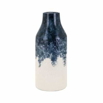 IMAX Nirra Blue Medium Vase - Home Depot