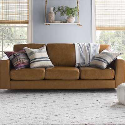 Shupe Leather Sofa - Wayfair
