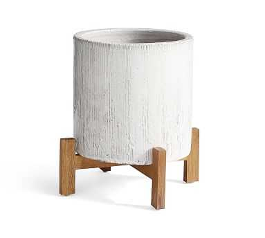 Bungalow Planter, Small- Ivory - Pottery Barn