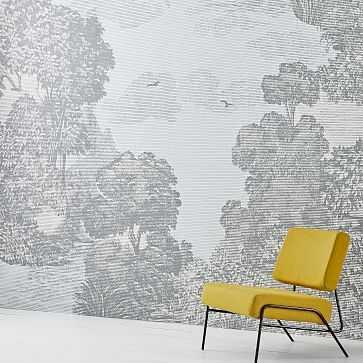 Landscape Mural Wallpaper, Platinum - West Elm