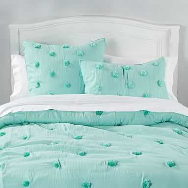 Crinkle Puff Quilt, Full/Queen, Pale Seafoam - Pottery Barn Teen
