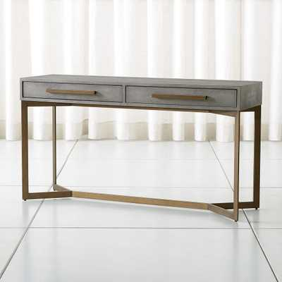 Faux Shagreen Console Table - Crate and Barrel