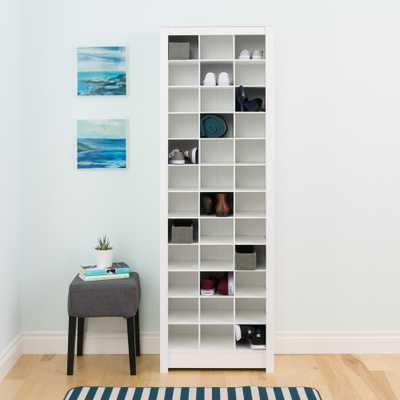 White Space-Saving Shoe Storage Cabinet - Home Depot