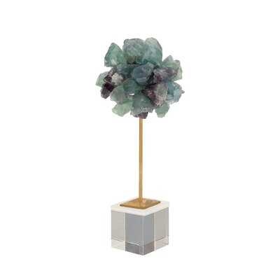Boho Fluorite Crystal Sculpture - Wayfair