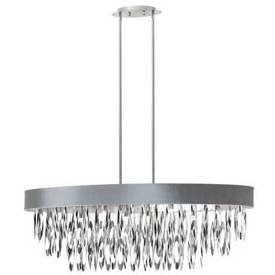 Radionic Hi Tech Allegro 8-Light Polished Chrome Oval Chandelier with Silver Shade - Home Depot