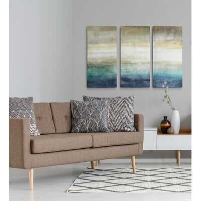 A Premium 'Mountain Lake' Painting Multi-Piece Image on Canvas - Wayfair