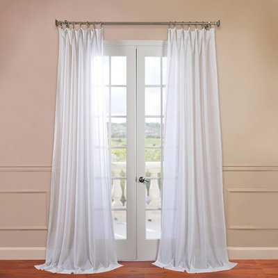 Cris Solid Sheer Rod Pocket Single Curtain Panel - AllModern