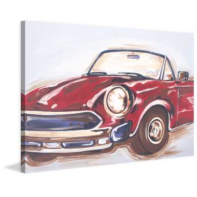 "Vintage Car"" by Reesa Qualia Painting Print on Wrapped Canvas - Wayfair"