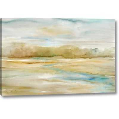 'Watercolor Landscape Neutral' Print on Wrapped Canvas - Wayfair
