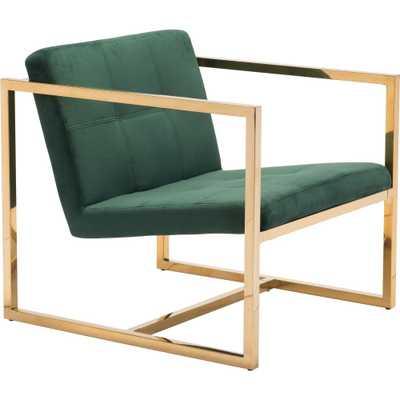 Modern Velvet Arm Chair Green - ZM Home - Target