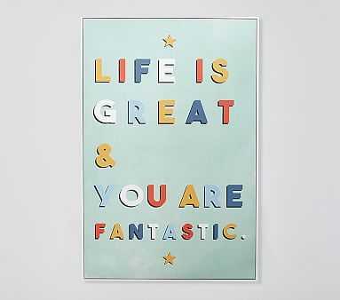 Life is Great Framed Artwork - Pottery Barn Kids