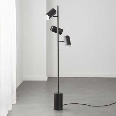 Trio Black Floor Lamp RESTOCK IN EARLY APRIL 2021 - CB2