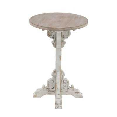 Chadwin Traditional Round Wood End Table - Wayfair