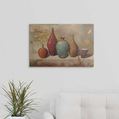 'Leaves and Vessels' by James Wiens Painting Print - Wayfair
