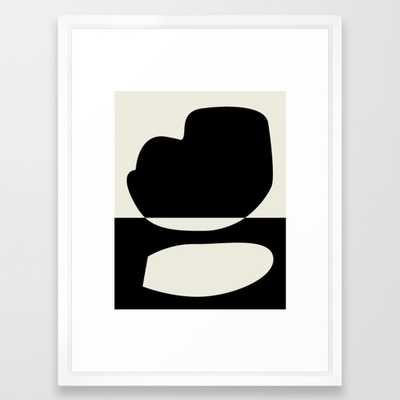 // Reverse 01 Framed Art Print by Mpgmb- Scoop White -15 x 21 - Society6