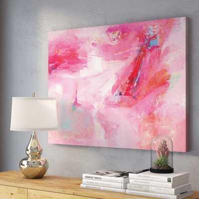 While She Dances by Sia Aryai - Wrapped Canvas Print - AllModern