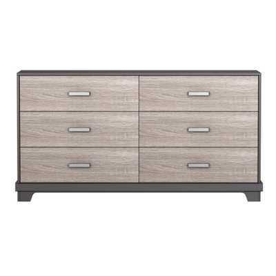 Manhattan 6-Drawer Dresser Java Brown with Sonoma, Java Brown/Sonoma - Home Depot