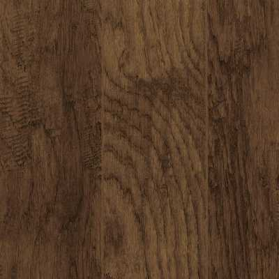 Home Decorators Collection Take Home Sample - Hand-Scraped Tanned Hickory Laminate Flooring - 5 in. x 7 in., Dark - Home Depot