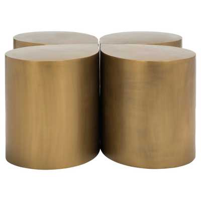 Tilly Coffee Table Antique Brass - Safavieh - Target
