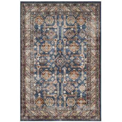 Isanotski Brown/Blue Area Rug - Wayfair