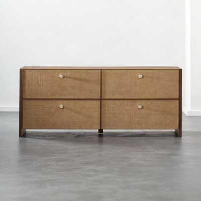 Grasscloth Low Dresser - CB2