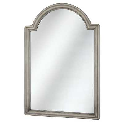 Home Decorators Collection 22 in. x 32 in. Framed Fog Free Arch Mirror in Pewter (Silver) - Home Depot