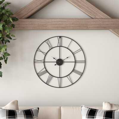 "Oversized Rhianna Round Metal 24"" Wall Clock - Wayfair"