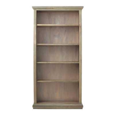 Aldridge Antique Grey Open Bookcase - Home Depot