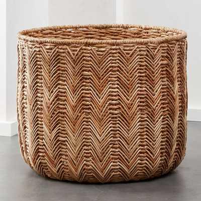 Merced Large Seagrass Basket - CB2