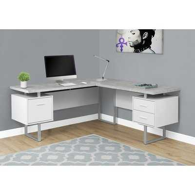 Sova 3 Drawer L-Shape Executive Desk - AllModern