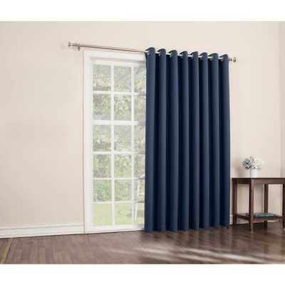 Sun Zero Blackout Gavin 84 in. L Extra Wide Blackout Patio Panel in Navy (Blue) - Home Depot