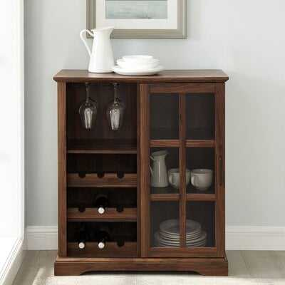 "36"" Sliding Glass Door Bar Cabinet - Wayfair"
