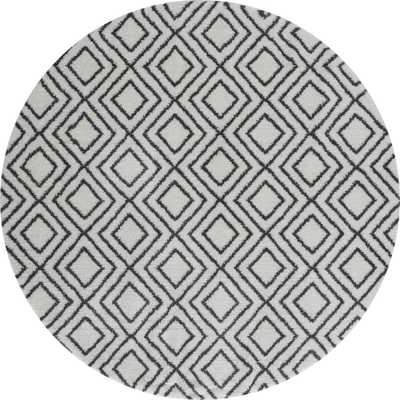 United Weavers Tranquility Stellan White 7 ft. 10 in. x 7 ft. 10 in. Round Rug - Home Depot