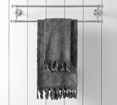 Sculpted Stonewashed Hand Towel, Flagstone - Pottery Barn