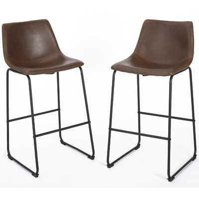 "Liara 24"" Bar Stool - Set of 2 - AllModern"