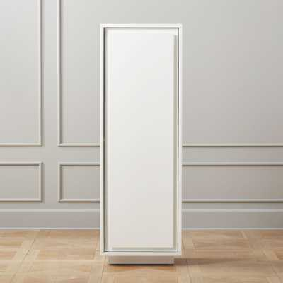 Gallery White Bath Cabinet - CB2