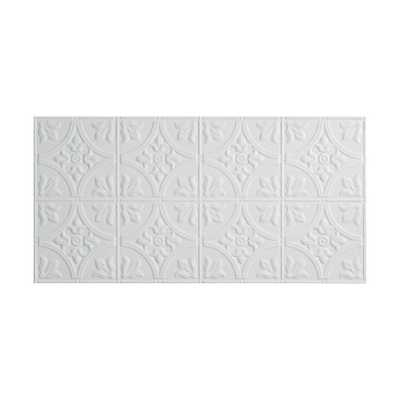 Traditional 2 - 2 ft. x 4 ft. Glue-up Ceiling Tile in Gloss White (1 box - 8 sq. ft) - Home Depot